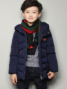 Ericdress Zipper Hooded Mid-Length Boy's Down Jacket