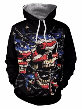 Ericdress Hooded Lace-Up Cool Men's Pullover Hoodie