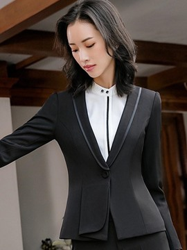 Ericdress Slim One Button Notched Lapel Blazer