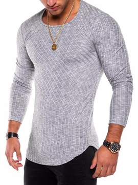 Ericdress Round Neck Slim Men's Pullover T Shirt