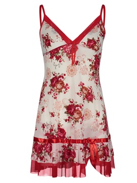 Ericdress Floral Pullover Above Knee Nightgown