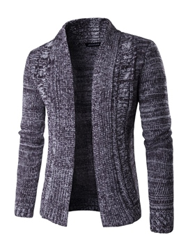 Ericdress Lapel Slim Warm Men's Cardigan Sweater
