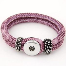 Ericdress Double Leather Ultra Violet Bracelet