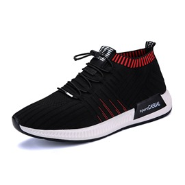 Ericdress Elastic Color Block Plain Men's Athletic Shoes