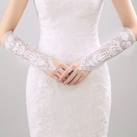 Ericdress Fingerless Lace Bridal Gloves
