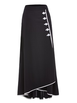 Ericdress Floor-Length Button Women's Skirt