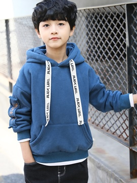 Ericdress Letter Print Pullover Thicken Boy's Hoodies