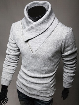 Ericdress Stand Collar Slim Long Sleeve Men's Sweater
