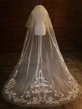 Ericdress Appliques Tulle Wedding Veil