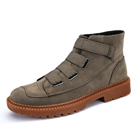 Ericdress Elastic Round Toe Plain Men's Boots