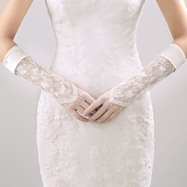Ericdress Fingerless Lace Wedding Gloves