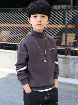 Ericdress Color Block High-Neck Boy's Sweater