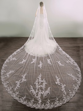 Ericdress Appliques Long Wedding Veil