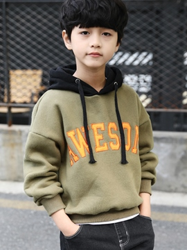Ericdress Letter Print Pullover Thicken Boy's Sweater