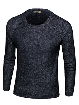 Ericdress Round Neck Slim Men's Pullover Sweater