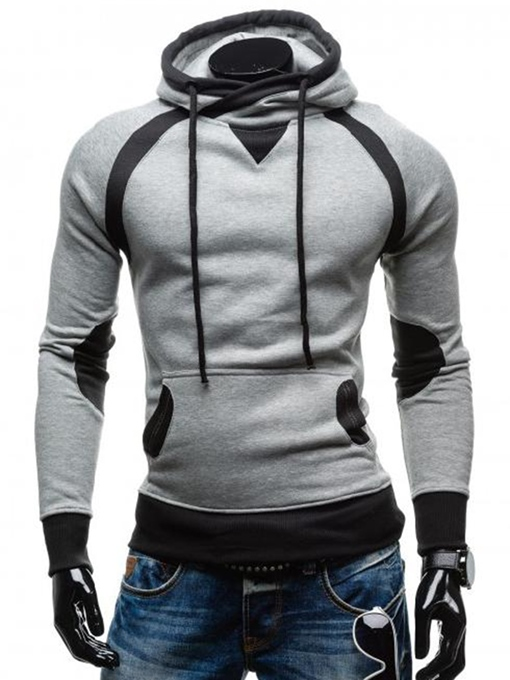 Ericdress Hooded Patchwork Slim Cool Men's Hoodie