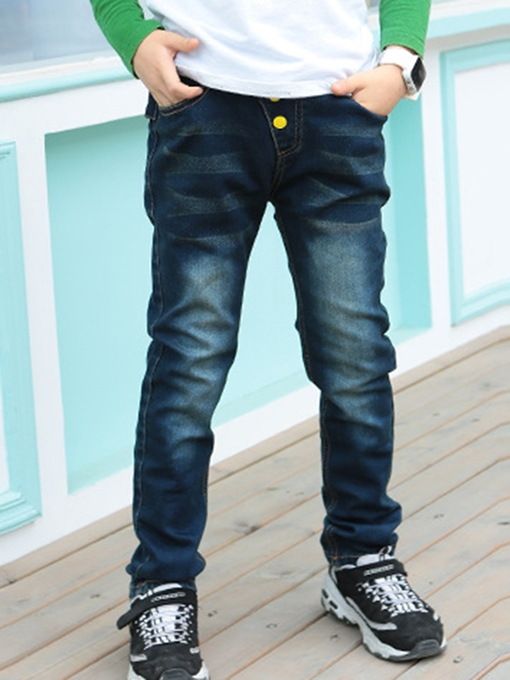 Ericdress Back Pocket With Letter Print Thicken Boy's Jeans