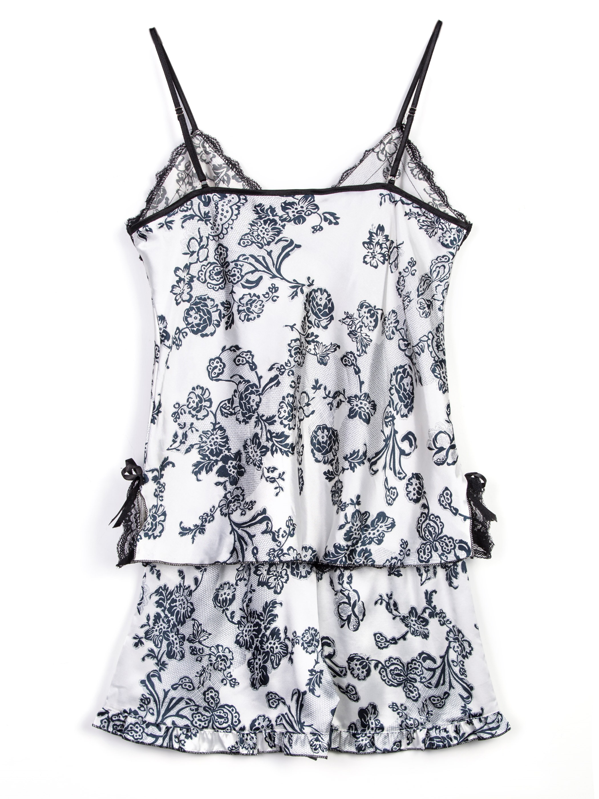 Ericdress Floral Spaghetti Strap Short Pajamas Suit