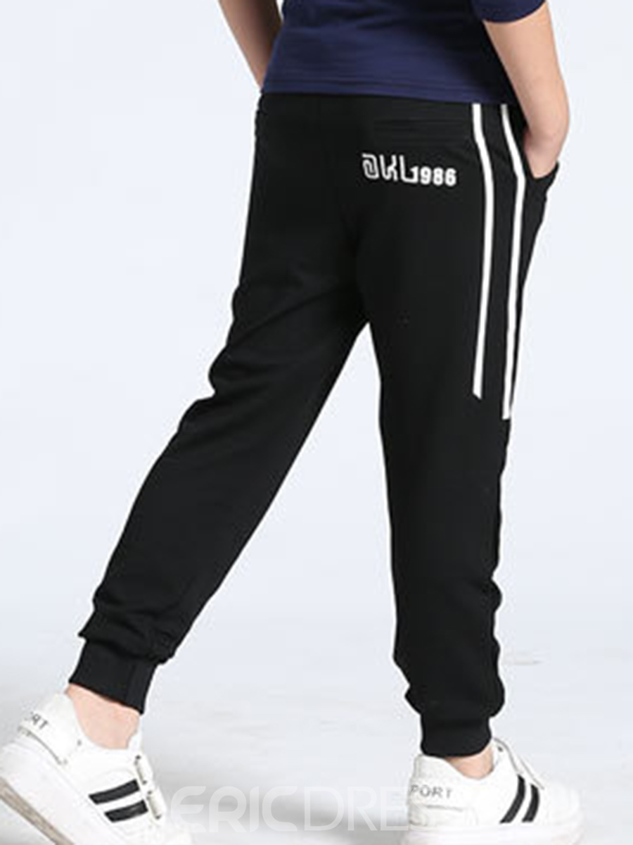 Ericdress Number Print Mid-Waist Boy's Casual Pants