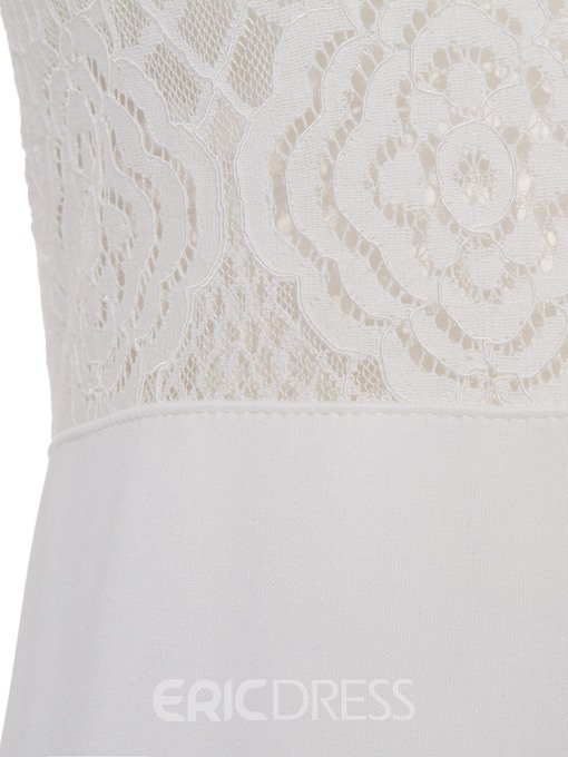 Ericdress Mermaid Hollow See-Through Patchwork Lace Sheath Dress