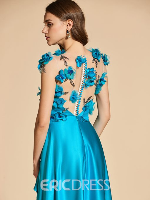 Ericdress A Line Beaded Flowers Long Evening Dress