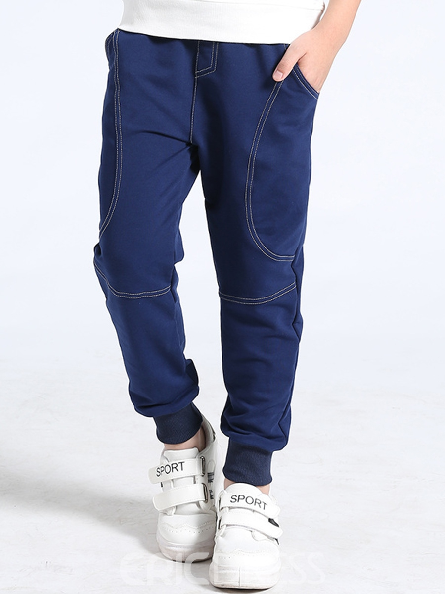 Ericdress Plain Thicken Cotton Boy's Casual Pants