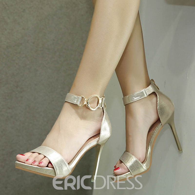 Ericdress Open Toe Plain Platform Stiletto Sandals