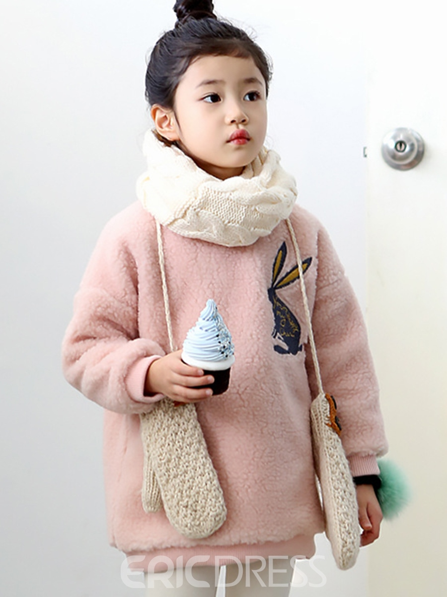 Ericdress Round Neck Pullover Lambswool Girl's Sweater