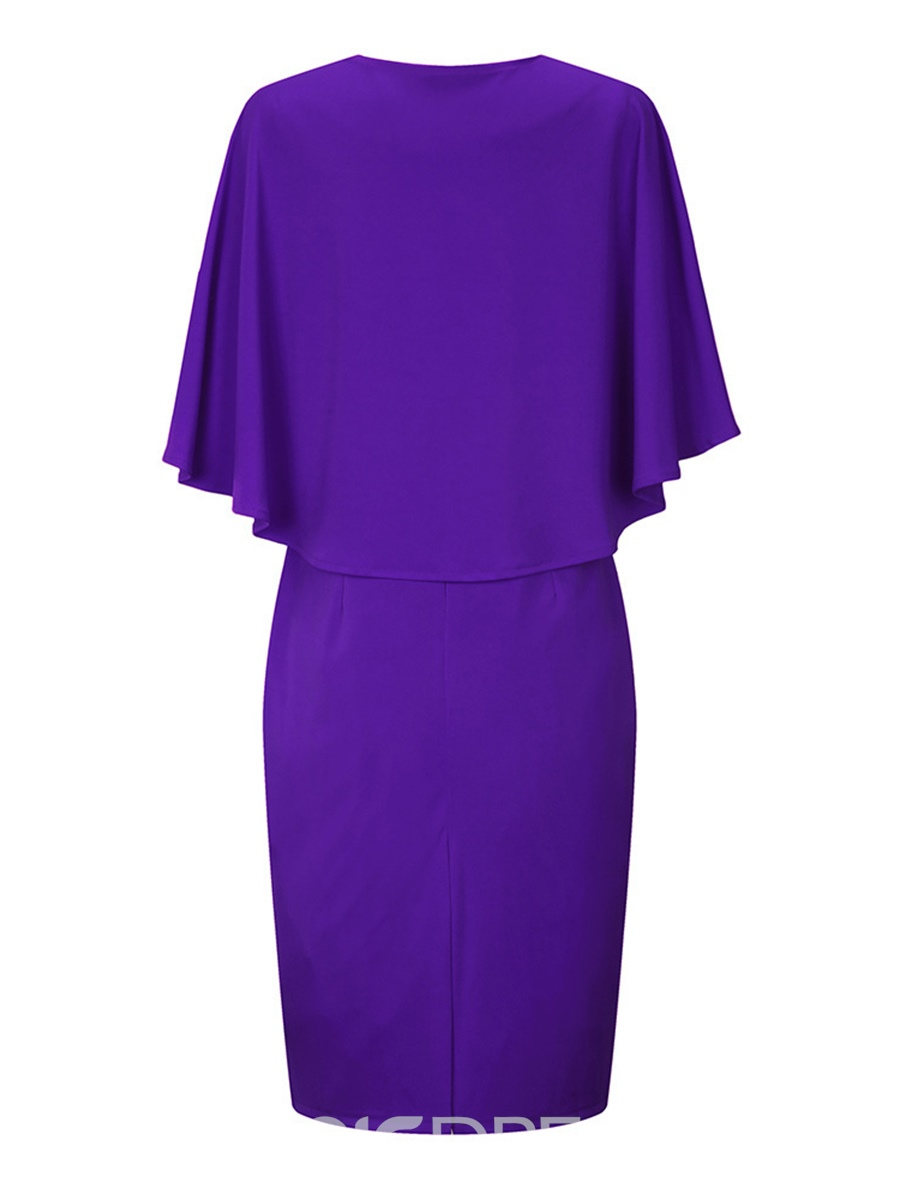 Ericdress Cape and Bodycon Dress Women's Suit