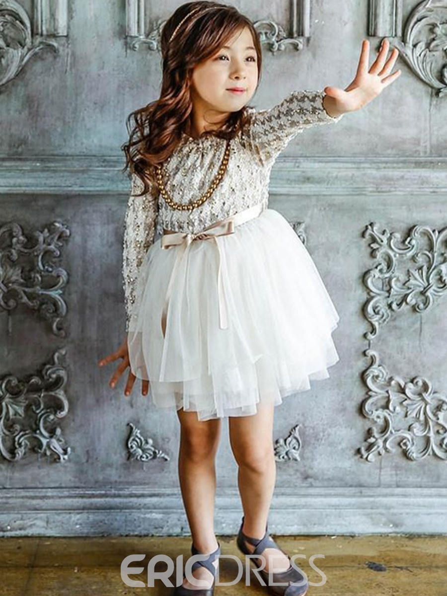 Ericdress Ladylike Bowknot Mesh Girl's Princess Dress
