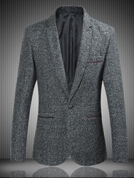 Ericdress Lapel Fit One Button Mens Blazer