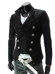 Ericdress Double-Breasted Slim Mens Coat фото