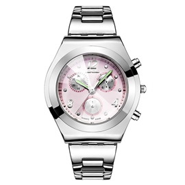 Ericdress Small Round Plate Diamante Watch for Women