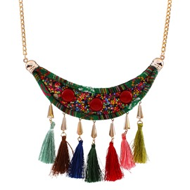 Ericdress National Style Hot Colorful Tassel Women's Necklace