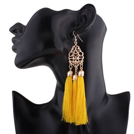 Ericdress Long Tassel Women's Drop Earring