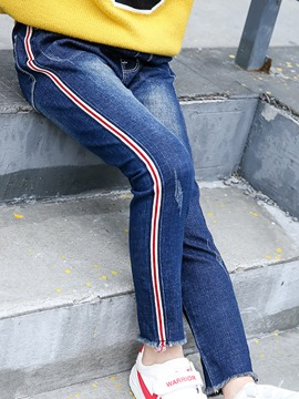 Ericdress Fashion Stripe Thick Girl's Jeans