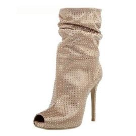 Ericdress Plain Peep Toe High Heel Boots