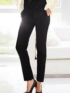 Ericdress Plain Slim Women's Dress Pants