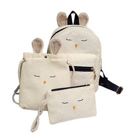 Ericdress Casual Canvas Backpack( Three Bag Set)