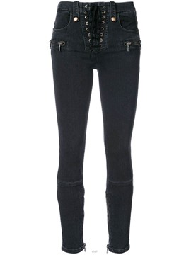 Ericdress Skinny Lace-Up Denim Women's Jeans
