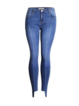 Ericdress Skinny Denim Plain Women's Jeans