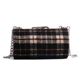 Ericdress Pillow Shape Plaid Chain Crossbody Bag