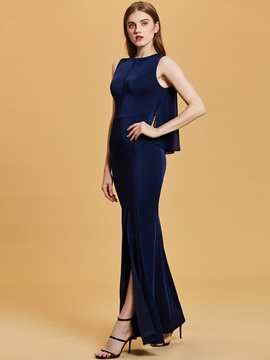 Ericdress Scoop Neck Split-Front Mermaid Evening Dress