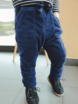 Ericdress Plain Mid-Waist Thicken Boy's Casual Pants