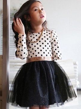 EricdressPolka Dots Mesh Ball Gown Girl's Dress