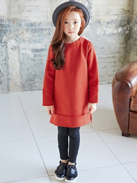 Ericdress Plain Long Sleeve Zipper Girls' Sweater