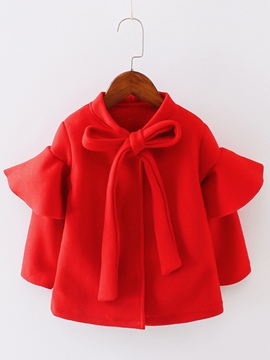 ericdress Plain falbala bowknot lace-up Mädchen Strickjacke