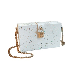 Ericdress Box Shape Sequins Star Decoration Crossbody Bag