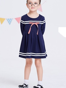 Ericdress Nautical Style Stripe Baby Girl's Princess Dress
