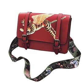 Ericdress Personality Tiger Prints PU Crossbody Bag